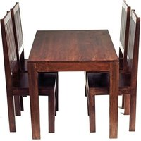 Mango Dining Set With 4 High Back Chairs