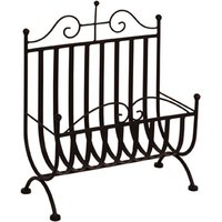 image-Metal Magazine Rack In Black