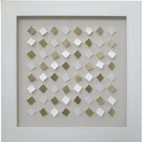 Mosaic Square White Frame Wall Art