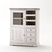 image-Opal Display Cabinet With Wine Rack And Glass Cabinet