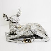Product photograph showing Deer Sitting Sculpture