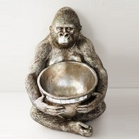 Product photograph showing Great Ape With Bowl Sculpture