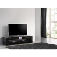 image-Mobik Black Gloss Finish LCD TV Stand With Bluetooth Connection