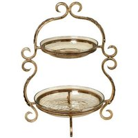 Product photograph showing Ornate Two Tier Cake Stand