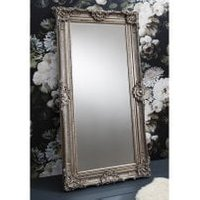 Valley Floor Mirror Rectangular Leaner In Antique Silver