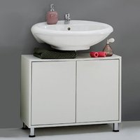 Product photograph showing Zamora 4 White Modern Bathroom Vanity Without Wash Basin