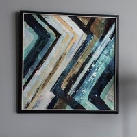 Abstract Framed Wall Art In Blue And Black