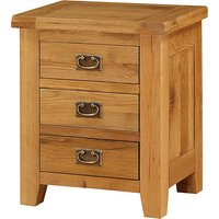 Acorn Wooden Bedside Cabinet In Light Oak With 3 Drawers