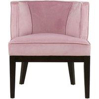 image-Adaline Rounded Velvet Upholstered Bedroom Chair In Pink