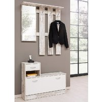 image-Harrison Hallway Shoe Storage In Fresco And White