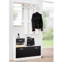 image-Harrison Hallway Shoe Storage In White And Black