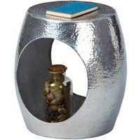 Product photograph showing Agra Aluminium Side Table In Metallic