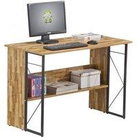 image-Alameda Computer Desk In Walnut With Grey Steel Frame