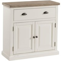 Alaya Wooden Compact Sideboard In Stone White Finish