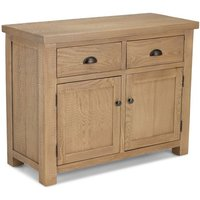 Albas Wooden Small Sideboard In Planked Solid Oak