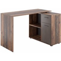 Product photograph showing Albrecht Wooden Computer Desk In Old Tyle Dark