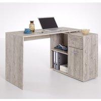 Product photograph showing Albrecht Wooden Computer Desk In Sand Oak