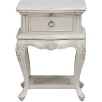Product photograph showing Albus Wooden Bedside Cabinet In Painted Antique Grey Finish