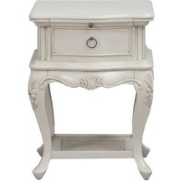 Albus Wooden Bedside Cabinet In Painted Antique Grey Finish