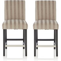 image-Alden Bar Stools In Silver Fabric And Black Legs In A Pair