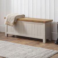 Alecia Wooden Storage Bench In Grey Wash