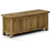 Alecia Wooden Storage Bench In Rough Sawn Pine