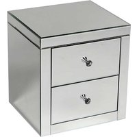Alfredo Mirrored Bedside Cabinet With 2 Drawers