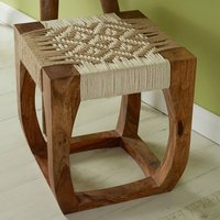 Product photograph showing Algieba Wooden Exotic Stool In Natural