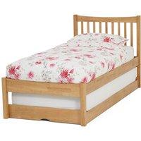 Alice Hevea Wooden Single Bed With Guest Bed In Honey Oak