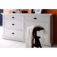 Product photograph showing Allthorp Chest Of Drawers In Classic White With 6 Drawers