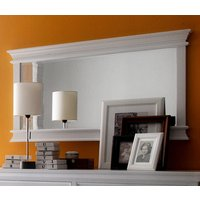 Product photograph showing Allthorp Landscape Bedroom Mirror In Classic White