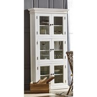 Allthorp Large Wooden Display Cabinet In Classic White