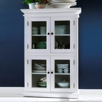 Product photograph showing Allthorp Medium Wooden Display Cabinet In Classic White
