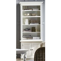 Product photograph showing Allthorp Single Bay Storage Hutch Unit In Classic White