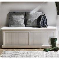 Allthorp Wooden Hallway Storage Bench In Classic White
