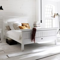 Product photograph showing Allthorp Wooden King Size Bed In Classic White