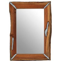 Product photograph showing Almory Wall Bedroom Mirror In Natural Frame