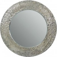 Product photograph showing Almory Wall Bedroom Mirror In Nickel Frame