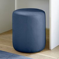 Product photograph showing Altair Fabric Pouffe In Blue