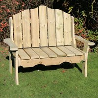 Product photograph showing Altos Wooden Outdoor 2 Seater Bench