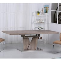 Alzano Wooden Extendable Dining Table Rectangular In Oak Effect