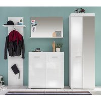 Amanda Hallway Furniture Set In White Gloss With Wardrobe