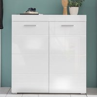 image-Amanda Shoe Storage Cabinet In White High Gloss