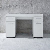 Product photograph showing Amanda Wooden Dressing Table In White