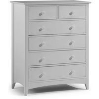 Product photograph showing Amandes Chest Of Drawers With Six Drawers In Dove Grey Lacquer