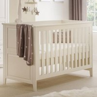 Amandes Wooden Cotbed In Stone White Lacquer Finish