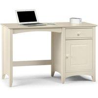 Amani Wooden Computer Desk In Stone White
