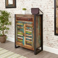 London Urban Chic Wooden Shoe Cabinet With 2 Doors