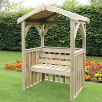 Product photograph showing Amastone Wooden 2 Seater Arbour