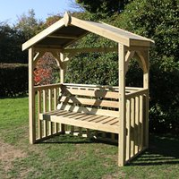Product photograph showing Amastone Wooden 3 Seater Arbour